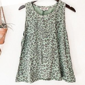 NWT Anthropologie Dolan leopard print tank top